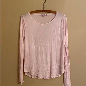 Calypso St. Barth Pink Tissue Long Sleeve Shirt